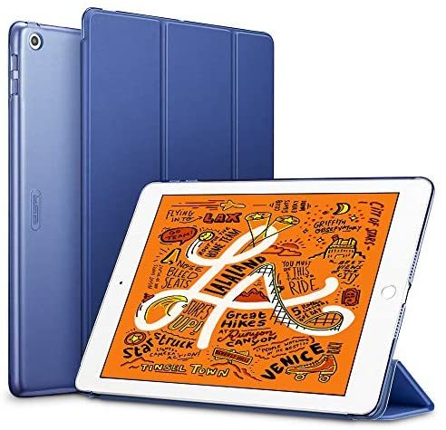ESR iPad Mini 5 2019 ケース 軽量 薄型 スマート カバー 耐衝撃 傷防止 クリア ハード 背面 ケース 三つ折り スタンド オートスリープ_画像1