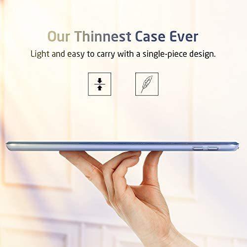 ESR iPad Mini 5 2019 ケース 軽量 薄型 スマート カバー 耐衝撃 傷防止 クリア ハード 背面 ケース 三つ折り スタンド オートスリープ_画像4