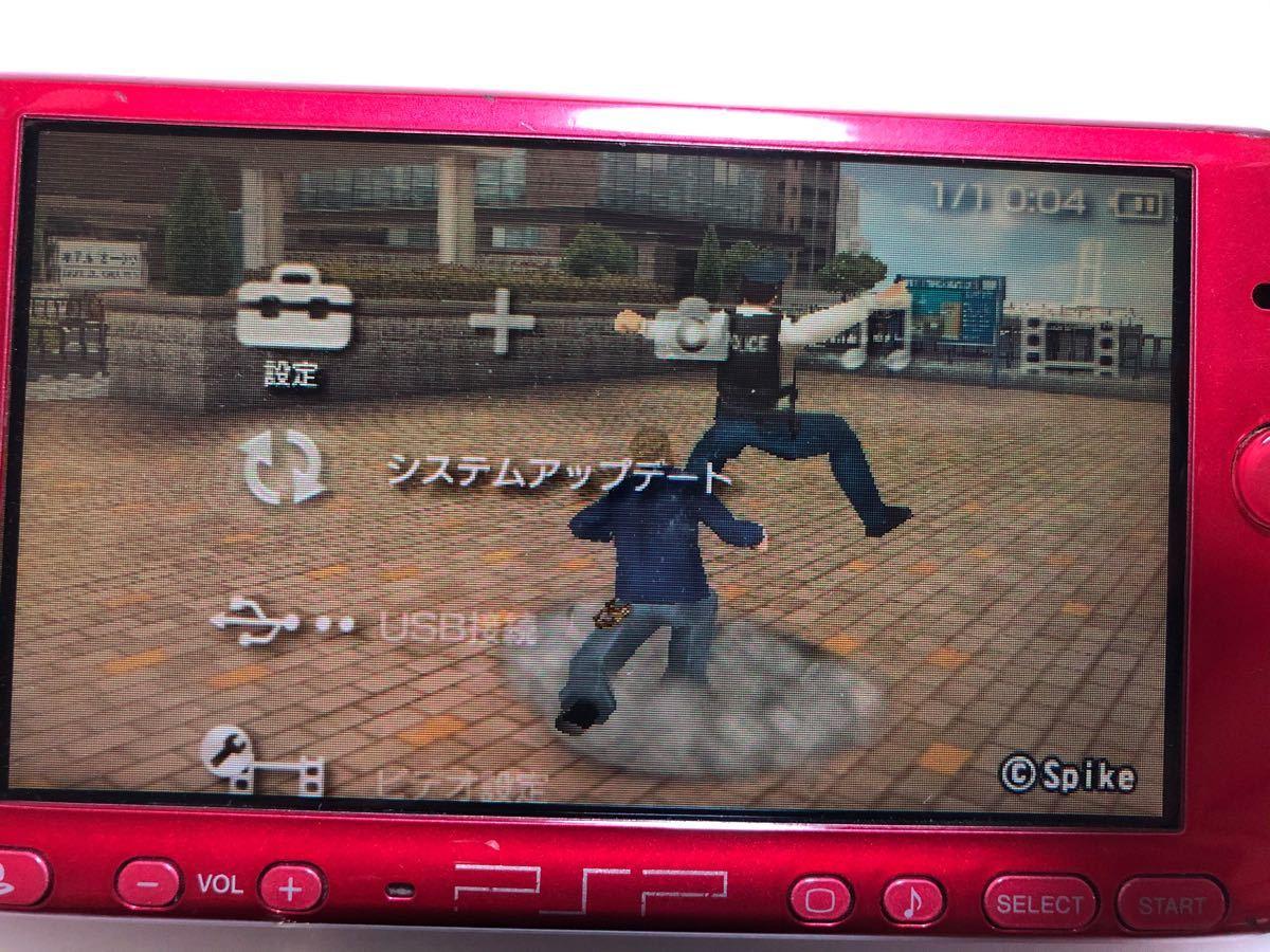PSP3000本体 純正ACアダプター 動作確認済み SONY レッド PSP-3000 プレイステーションポータブル
