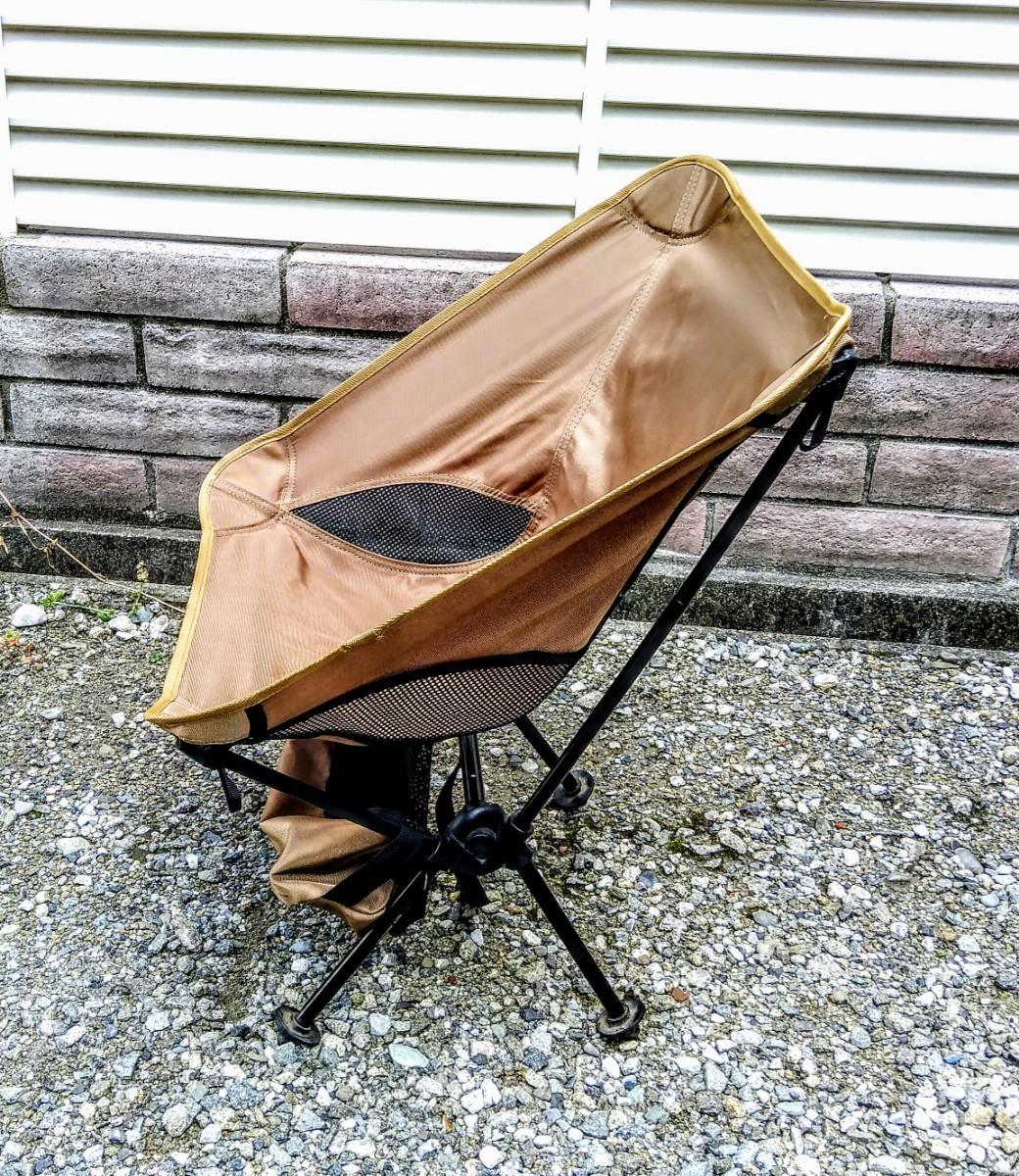 らくらく持ち運び アウトドアチェア 折りたたみ キャンプ椅子 破れあり