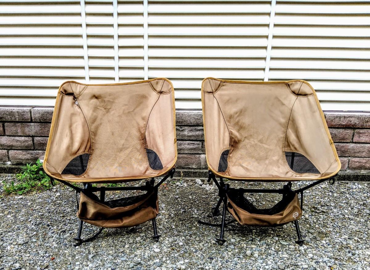 らくらく持ち運び アウトドアチェア 折りたたみ キャンプ椅子 2脚 セット