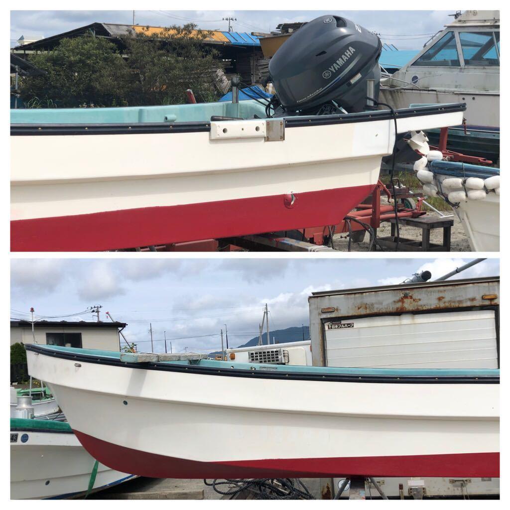 「☆良い和船にヤマハ4スト25馬力付き 上架艇中古」の画像1