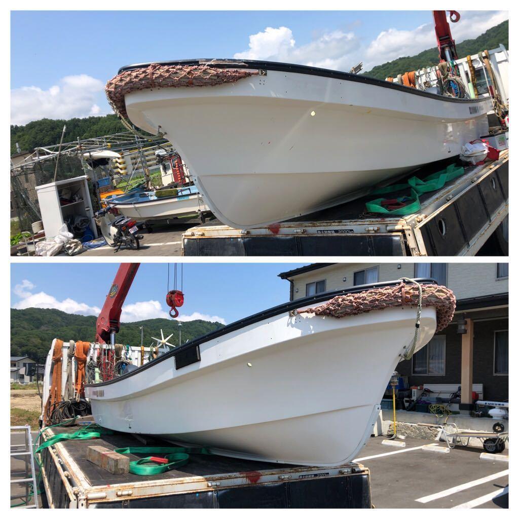 「☆ヤマハ和船☆Y4スト9、9馬力付き 前浜使用船お安くどうぞ」の画像1