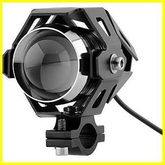 Szmsmyオートバイ125W CREE U5 LEDドライビングフォグヘッドスポットライトホワイトランプヘッドライト(ブラック)_画像1