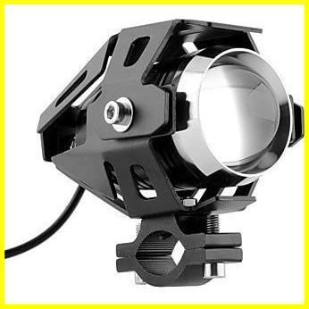 Szmsmyオートバイ125W CREE U5 LEDドライビングフォグヘッドスポットライトホワイトランプヘッドライト(ブラック)_画像2