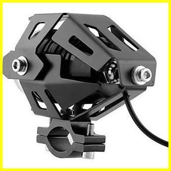 Szmsmyオートバイ125W CREE U5 LEDドライビングフォグヘッドスポットライトホワイトランプヘッドライト(ブラック)_画像3