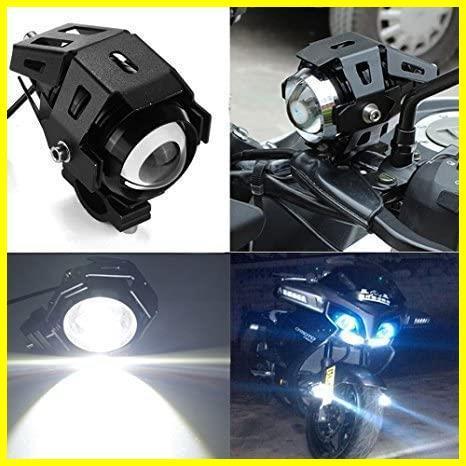 Szmsmyオートバイ125W CREE U5 LEDドライビングフォグヘッドスポットライトホワイトランプヘッドライト(ブラック)_画像5