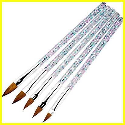 Kingsie ネイルブラシ 5本セット スカルプネイルブラシ 可愛い アクリルネイル UV ジェルネイル ネイルアート筆 11/13/15/17/19mm_画像5