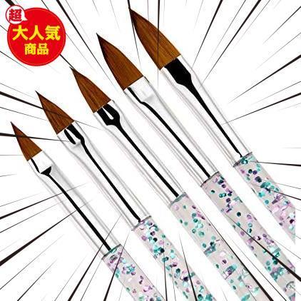 Kingsie ネイルブラシ 5本セット スカルプネイルブラシ 可愛い アクリルネイル UV ジェルネイル ネイルアート筆 11/13/15/17/19mm_画像3