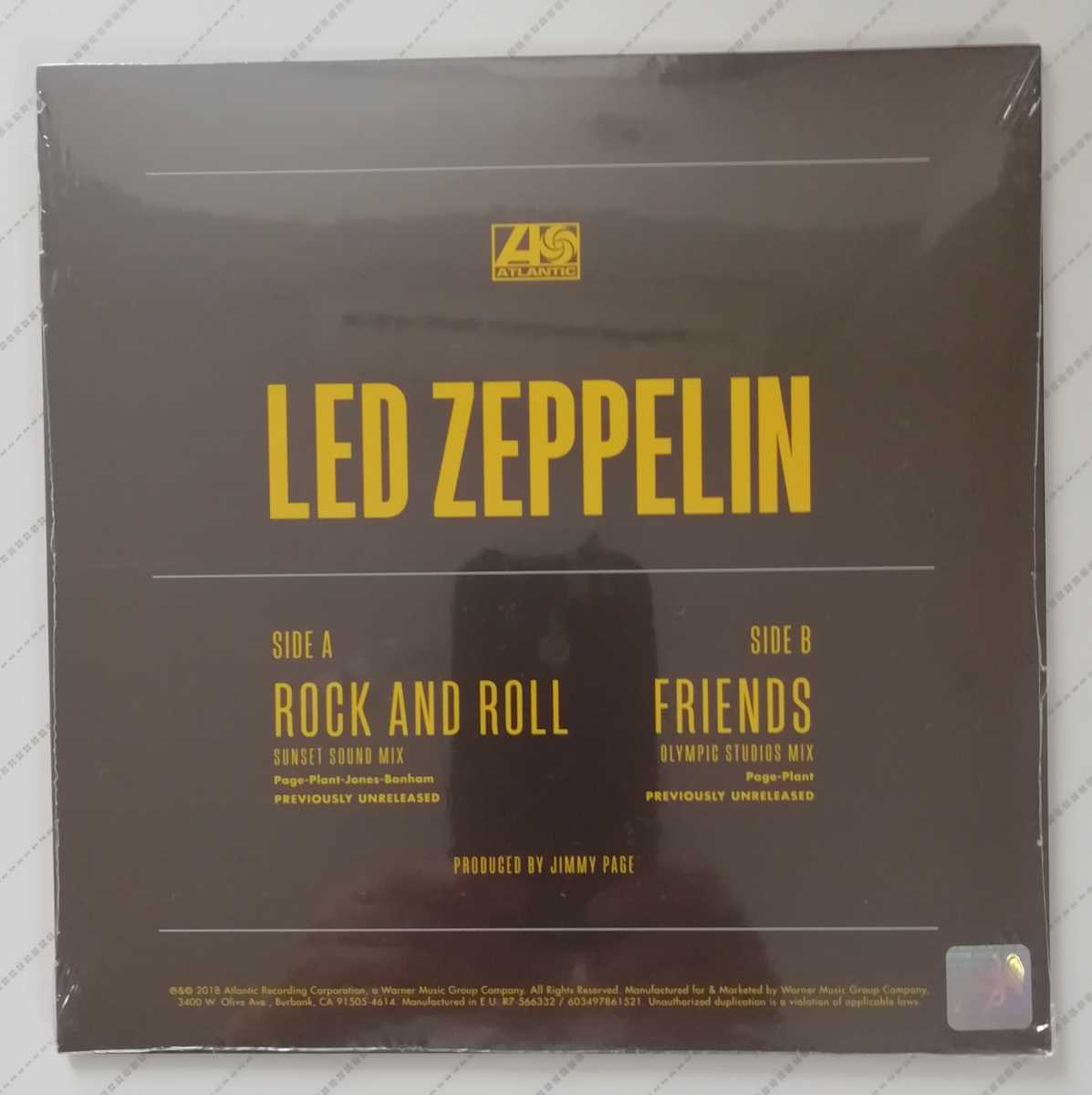 LED ZEPPELIN ROCK AND ROLL/FRIENDS 7inch カラーレコード盤(未開封品)RECORD STORE DAY  レッド・ツェッペリン