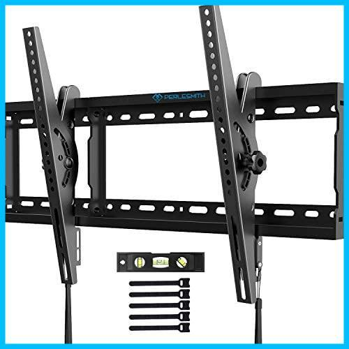 PERLESMITH テレビ壁掛け金具 37~70インチ 液晶テレビ対応 耐荷重60kg 左右移動式 角度調節可能 VESA対応 最大600x400㎜ 水準器付き_画像1