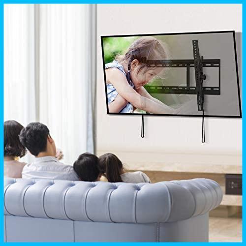 PERLESMITH テレビ壁掛け金具 37~70インチ 液晶テレビ対応 耐荷重60kg 左右移動式 角度調節可能 VESA対応 最大600x400㎜ 水準器付き_画像6