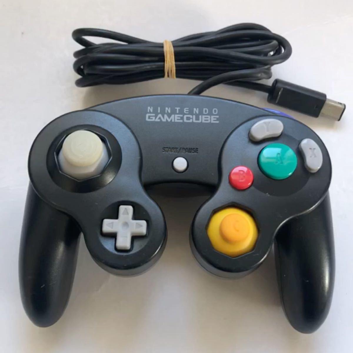 任天堂 ゲームキューブコントローラー ブラック DOL-003 動作未確認ジャンク