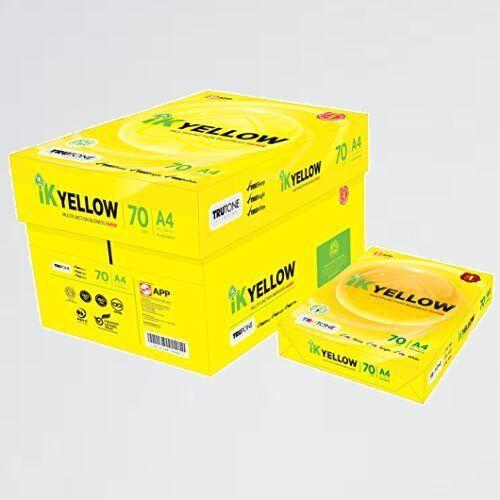 新品 目玉 高白色 APP Y-YV 紙厚0.101mm 450枚 コピ-用紙 IK Yellow A4 白色度98%_画像1