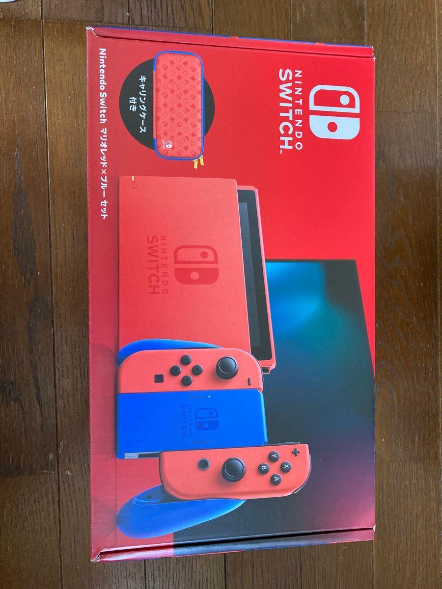 中古美品Nintendo Switch マリオレッド×ブルーセット