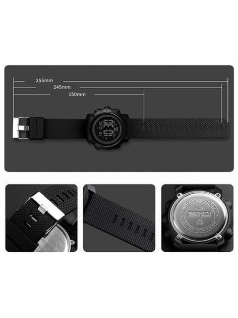 腕時計 メンズ デジタル スポーツ 50メートル防水 おしゃれ 多機能 LED表示 アウトドア 腕時計_画像3