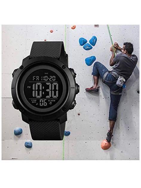 腕時計 メンズ デジタル スポーツ 50メートル防水 おしゃれ 多機能 LED表示 アウトドア 腕時計_画像6