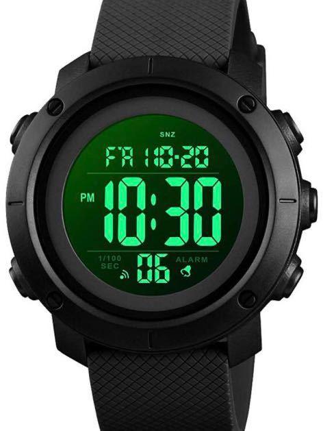 腕時計 メンズ デジタル スポーツ 50メートル防水 おしゃれ 多機能 LED表示 アウトドア 腕時計_画像1