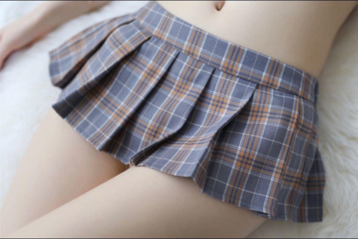 セクシーランジェリー コスプレ衣装[ショート丈トップス+ミニスカ+ニップレスシ-ル付き3点セット] ナイトウェア 制服