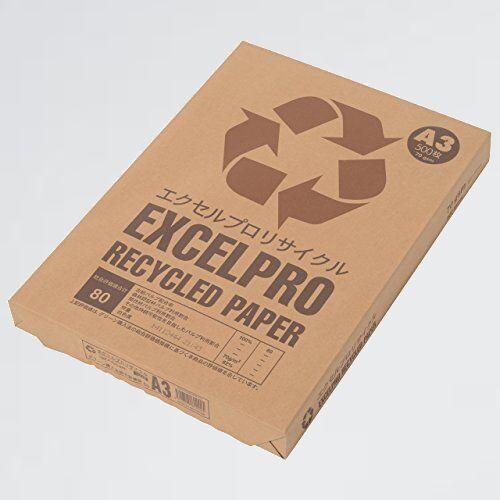 新品 未使用 再生コピ-用紙 APP 6-F1 紙厚0.09mm 500枚 エクセルプロリサイクル A3 白色度82% 古紙100% グリ-ン購入法総合評価値80_画像1
