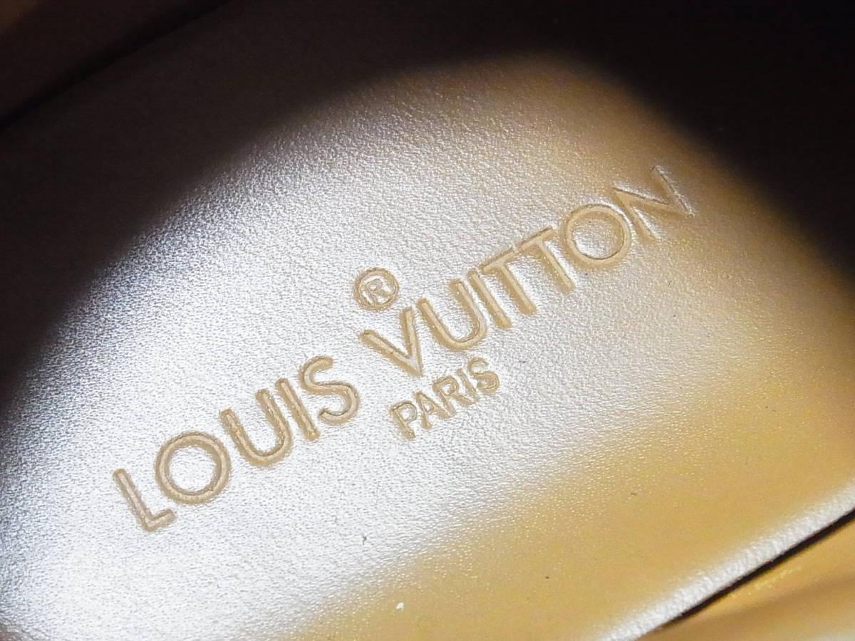 高級 LOUIS VUITTON ルイヴィトン LVロゴ デニム エスパドリーユ スニーカー サイズ8.5 靴_画像8