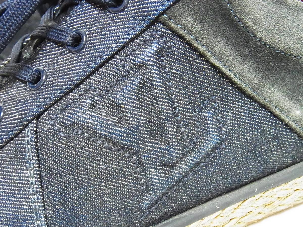 高級 LOUIS VUITTON ルイヴィトン LVロゴ デニム エスパドリーユ スニーカー サイズ8.5 靴_画像5