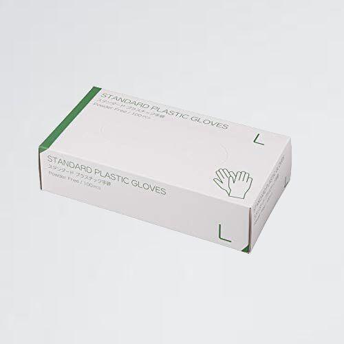 新品 目玉 プラスチックグロ-ブ 使い捨て手袋 2-HY 病院採用商品 マツヨシ(松吉医科器械) 粉なし(サイズ:L)100枚入り_画像1