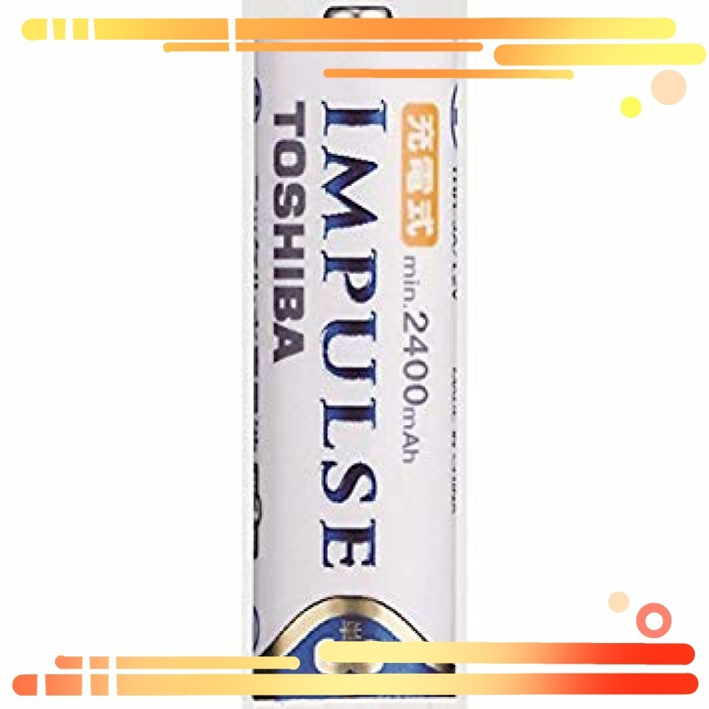 ▼▼TOSHIBA ニッケル水素電池 充電式IMPULSE 高容量タイプ 単3形充電池(min.2400mAh)_画像3