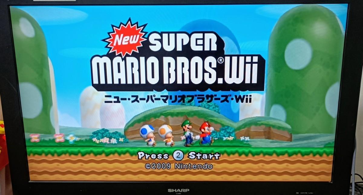 マリオカートWii スーパーマリオブラザーズwii ハンドル3個 リモコン2個 シロ マリオハンドル