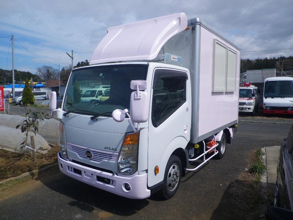 「【くるま☆市場】アトラス 移動販売車 キッチンカー 左右大型開口部http://garageark.com/ HPをご覧ください」の画像1