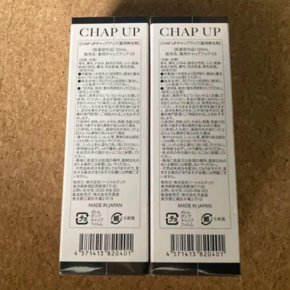薬用 チャップアップ CHAPUP 育毛ローション 120ml 2本セット