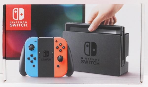 【簡易動作確認済】Nintendo Switch 旧型 本体 (ニンテンドースイッチ) Joy-Con(L)ネオンブルー/ (R) ネオンレッド ②_画像1