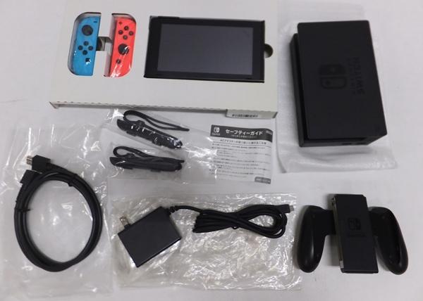 【簡易動作確認済】Nintendo Switch 旧型 本体 (ニンテンドースイッチ) Joy-Con(L)ネオンブルー/ (R) ネオンレッド ②_画像3