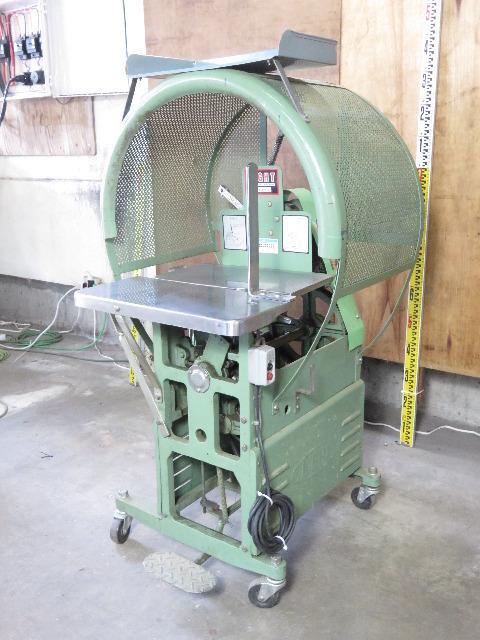 日本包装機械 自動紐結束機 LIGHT 15-3P 紐掛機 梱包機 動作良好 ハ6886 _画像1