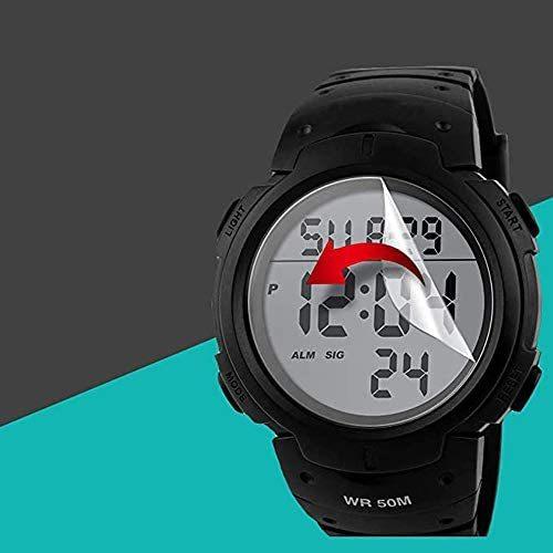 Timever(タイムエバー)メンズ デジタル腕時計 大きい文字 見やすい時計 スポーツウォッチ LED表示 アラーム ストップウォッチ多機能_画像4