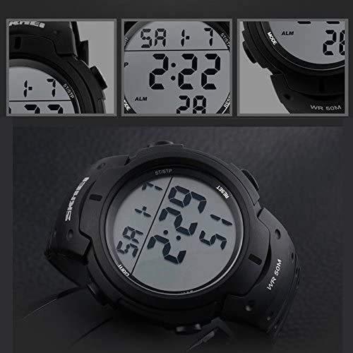 Timever(タイムエバー)メンズ デジタル腕時計 大きい文字 見やすい時計 スポーツウォッチ LED表示 アラーム ストップウォッチ多機能_画像5