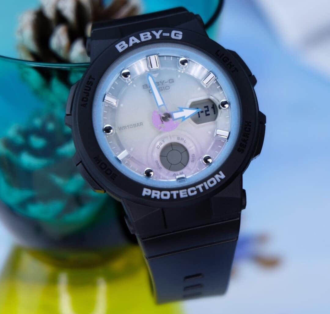 新品正規品CASIOカシオBABY-GベビーGベビージーBeach Traveler Seriesビーチトラベラーアナデジ腕時計とけいギフトネイビー紺ブルー水色