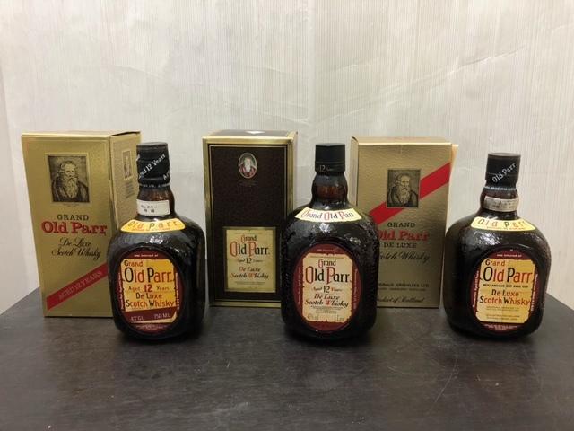 【古酒】Grand Old Parr グランド オールドパー 3本セット 12年 ウイスキー スコッチ お酒 スコットランド