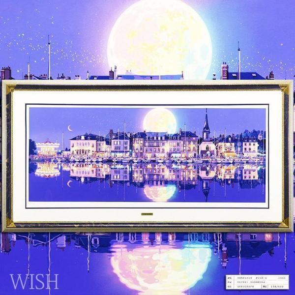 【真作】【WISH】笹倉鉄平「オンフルール」シルクスクリーン 50号大 超大作 1997年作 直筆サイン 証明シール 〇光情景人気版画家 #21072880
