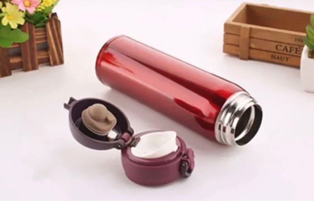 マグボトル 500ml 水筒 真空断熱ケータイマグ 水筒 ステンレス レッド