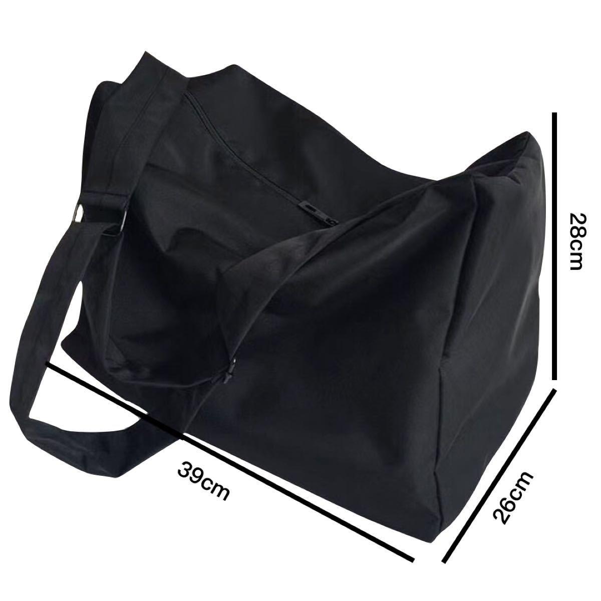 メッセンジャーバッグ ショルダーバッグ レディース 大容量 大きめ トートバッグ シンプル無地 トラベルバッグ エコバッグ男女兼用