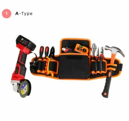 N-108 多機能 電気技師 ツールバッグ ウエストポーチ ベルトストレージホルダー オーガナイザー ツールキット_画像1