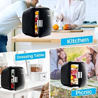 ブラック AstroAI 冷蔵庫 小型 ミニ冷蔵庫 小型冷蔵庫 車載冷蔵庫 冷温庫 9L 化粧品 小型でポータブル 家庭 車載 _画像7