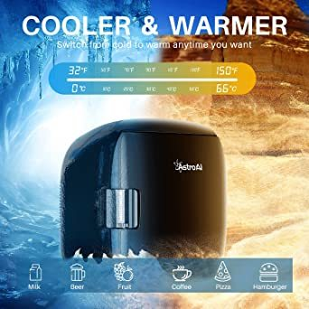 ブラック AstroAI 冷蔵庫 小型 ミニ冷蔵庫 小型冷蔵庫 車載冷蔵庫 冷温庫 9L 化粧品 小型でポータブル 家庭 車載 _画像3