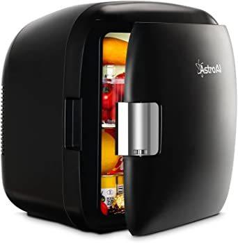 ブラック AstroAI 冷蔵庫 小型 ミニ冷蔵庫 小型冷蔵庫 車載冷蔵庫 冷温庫 9L 化粧品 小型でポータブル 家庭 車載 _画像1