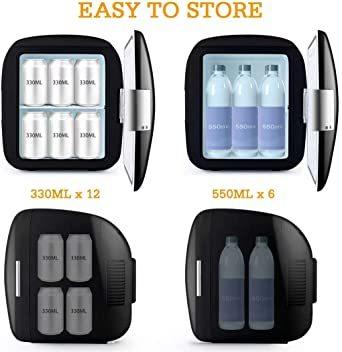 ブラック AstroAI 冷蔵庫 小型 ミニ冷蔵庫 小型冷蔵庫 車載冷蔵庫 冷温庫 9L 化粧品 小型でポータブル 家庭 車載 _画像8