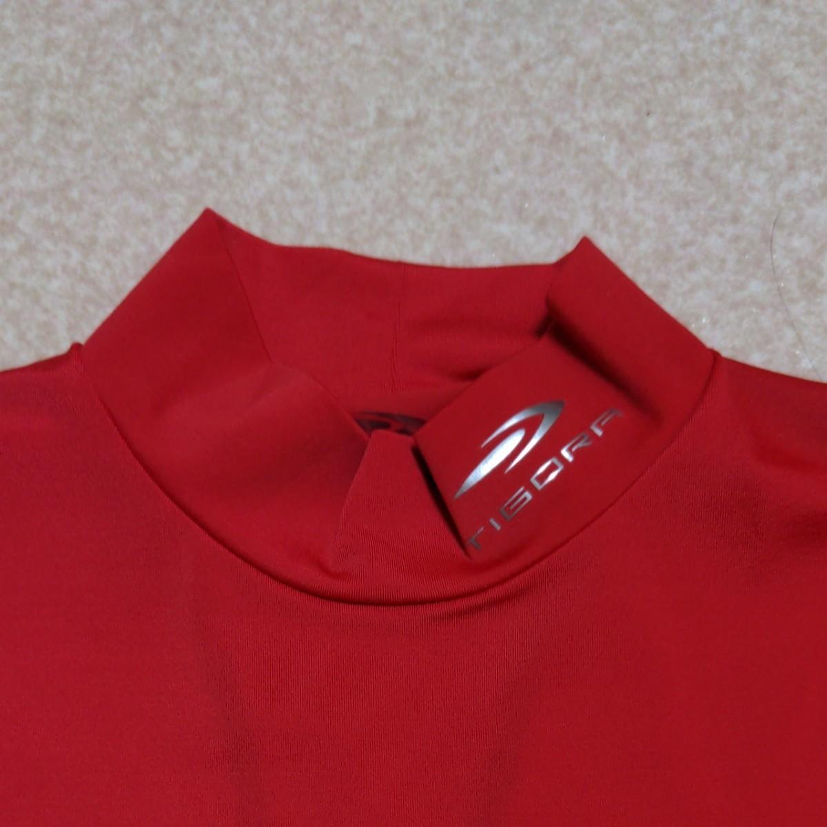 新品 未使用 ティゴラ ハイネック インナーシャツ アンダーシャツ 長袖 サッカー フットサル アディダス ナイキ 赤 レッド