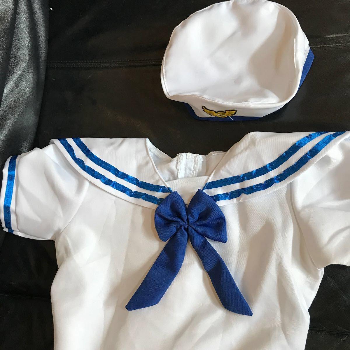 コスプレ衣装 コスチューム セーラー服 水兵 海兵 マリン 子供用 キッズ ジュニア 女の子