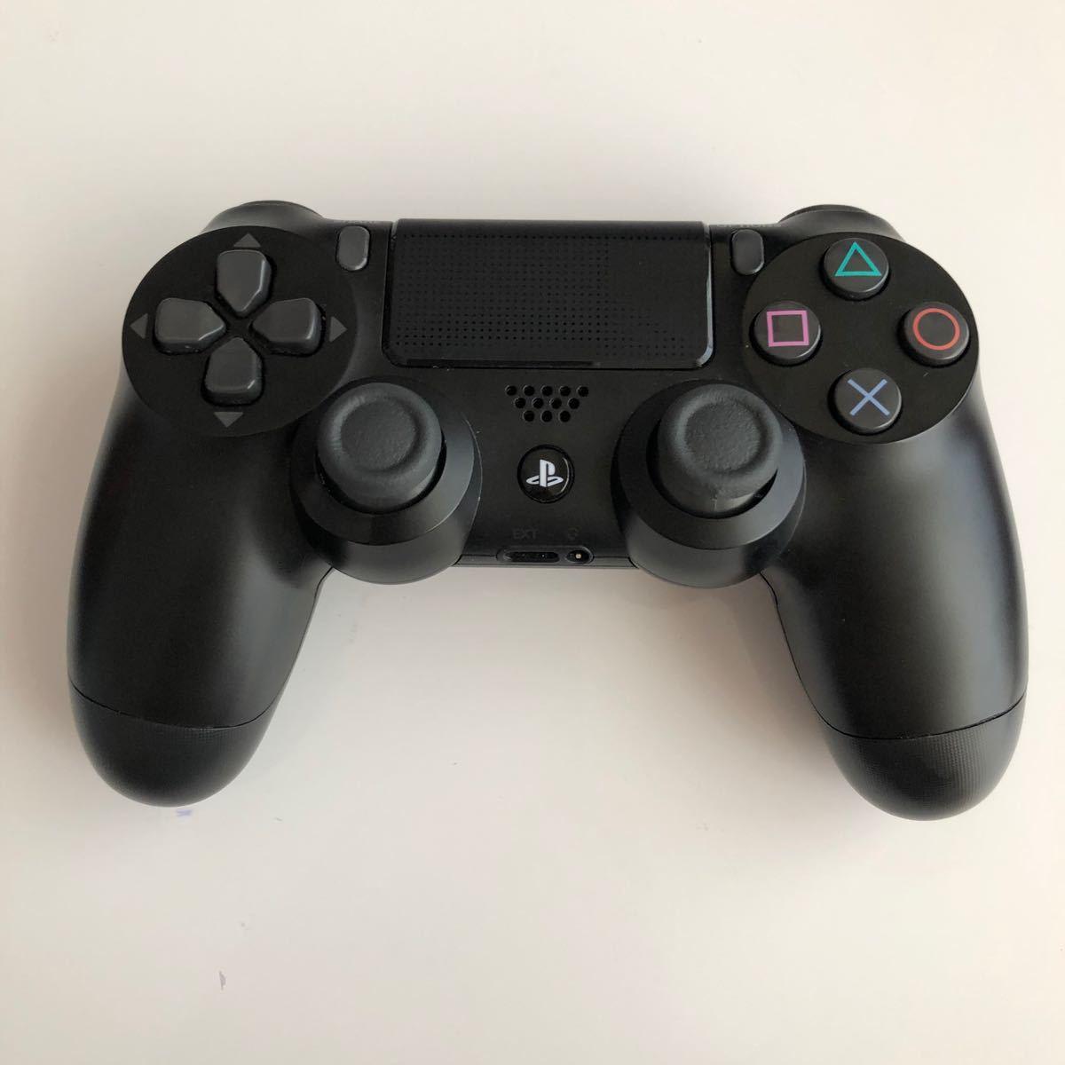 PS4コントローラ DUALSHOCK4 黒 ブラック ワイヤレスコントローラ