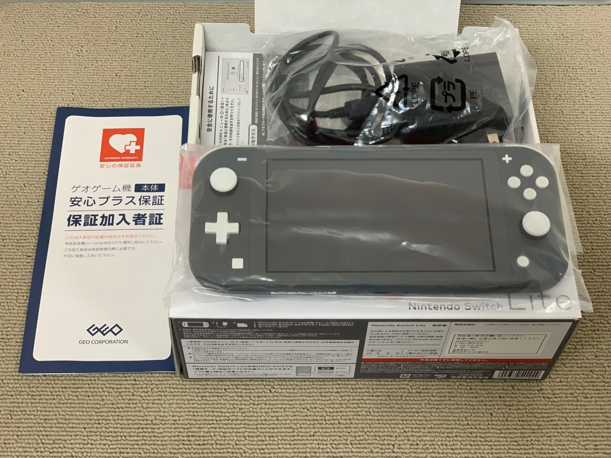 中古品 任天堂 Nintendo Switch Lite 本体 ニンテンドー スイッチ ライト 本体 グレー_画像9